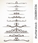 ornamental calligraphic line... | Shutterstock .eps vector #236884336