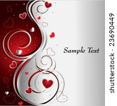 background with hearts | Shutterstock .eps vector #23690449
