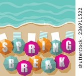 spring break umbrellas on the... | Shutterstock .eps vector #236911522
