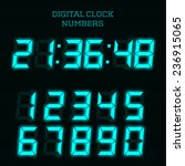 vector blue digital clock... | Shutterstock .eps vector #236915065