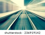 railroad blurred with zoom | Shutterstock . vector #236919142
