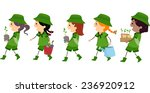 illustration of girl scouts... | Shutterstock .eps vector #236920912