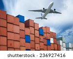 industrial port with containers ... | Shutterstock . vector #236927416