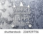 merry christmas and new year... | Shutterstock . vector #236929756