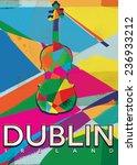Dublin Vintage Travel Poster.