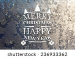 merry christmas and new year... | Shutterstock . vector #236933362