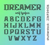 modern serif typeface. vector. | Shutterstock .eps vector #236934436