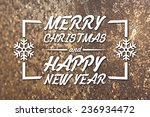 merry christmas and new year... | Shutterstock . vector #236934472