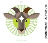 east horoscope.year of the goat. | Shutterstock .eps vector #236935948