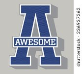awesome college typography  t... | Shutterstock .eps vector #236937262