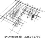 house building 3d sketch | Shutterstock . vector #236941798