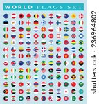 world flags icon  vector... | Shutterstock .eps vector #236964802