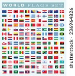 world flags icon  vector... | Shutterstock .eps vector #236964826