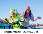 two beautiful girls wearing... | Shutterstock . vector #236969245