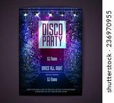 Stock vector disco background disco poster 236970955