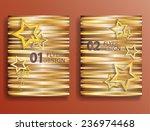 vector golden flyer templates.... | Shutterstock .eps vector #236974468