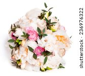 white wedding bouquet with... | Shutterstock . vector #236976322