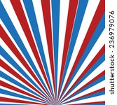 red  blue and white vector rays | Shutterstock .eps vector #236979076