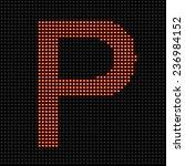 led display red scoreboard dot...   Shutterstock . vector #236984152