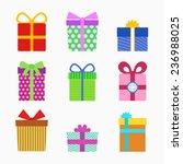 gift symbol set | Shutterstock .eps vector #236988025