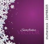 snowflakes purple background | Shutterstock .eps vector #236988205
