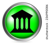 bank button on white background.... | Shutterstock .eps vector #236990086