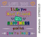 doodle love  happiness  best... | Shutterstock .eps vector #237003115