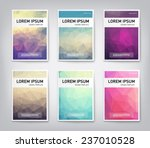 set of abstract modern cover ... | Shutterstock .eps vector #237010528