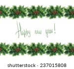 watercolor new year decoration... | Shutterstock . vector #237015808