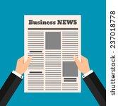 man reading a newspaper | Shutterstock .eps vector #237018778