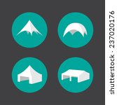 four tent icons on grey...   Shutterstock .eps vector #237020176