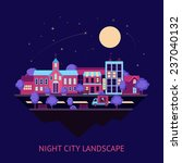 city night summer colorful... | Shutterstock . vector #237040132