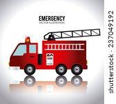 fire design over white... | Shutterstock .eps vector #237049192