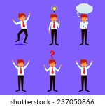 various businessman or student... | Shutterstock .eps vector #237050866