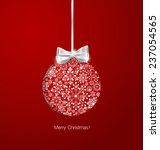 christmas background with... | Shutterstock .eps vector #237054565