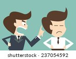 boring boss concept   angry... | Shutterstock .eps vector #237054592