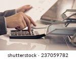 businessman analyzing... | Shutterstock . vector #237059782