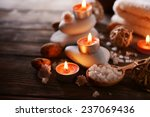 composition of spa treatment on ... | Shutterstock . vector #237069436