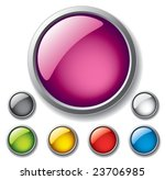vector glossy buttons. | Shutterstock .eps vector #23706985