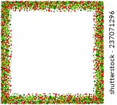confetti frame in red and green | Shutterstock . vector #237071296