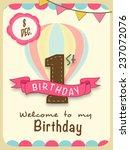 kids 1st birthday celebration... | Shutterstock .eps vector #237072076