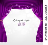 Purple Curtains Vector...