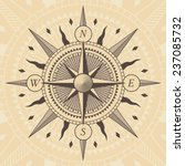 vector oldstyle wind rose... | Shutterstock .eps vector #237085732