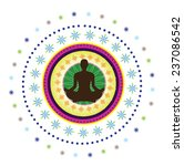 round circle icon for yoga... | Shutterstock .eps vector #237086542