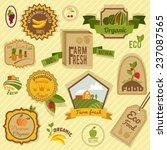 eco farm fresh organic food... | Shutterstock . vector #237087565