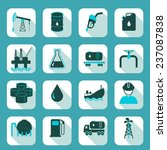 oil industry icons set with... | Shutterstock . vector #237087838