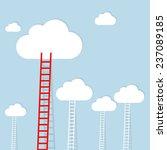 ledder to cloud  business... | Shutterstock . vector #237089185