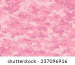 girly camo pixels | Shutterstock .eps vector #237096916