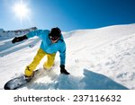 young man snowboarding | Shutterstock . vector #237116632