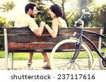 Couple In Love Sitted Togheter...